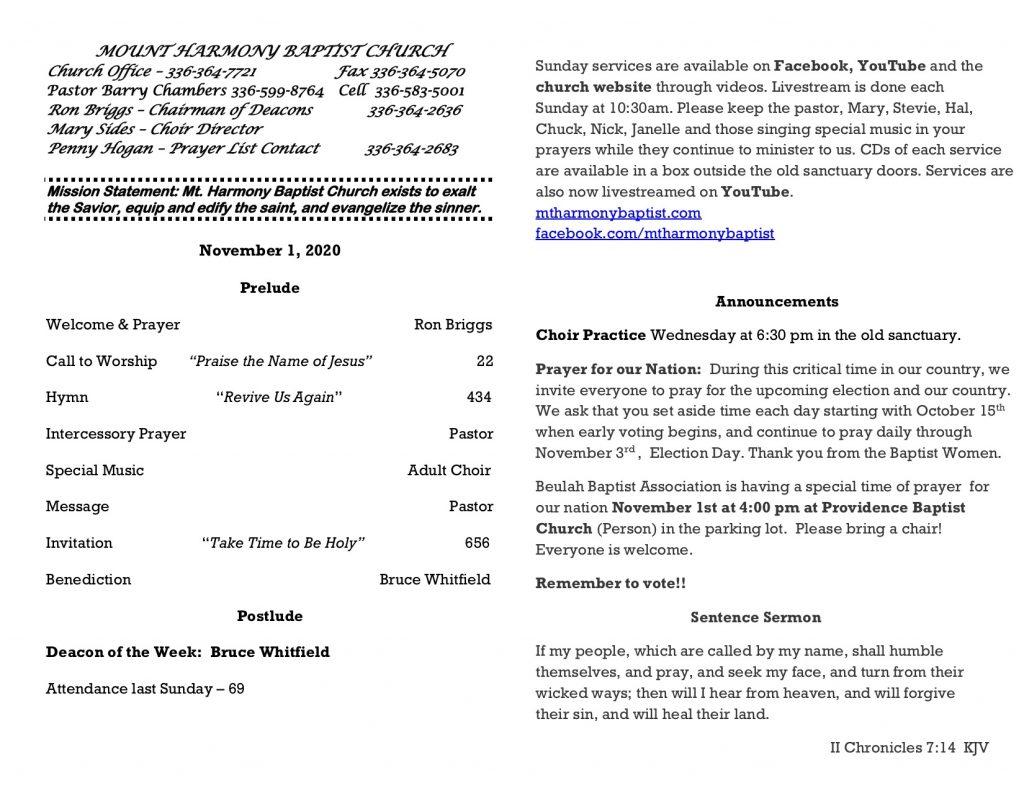 MHBC Bulletin 11-01-2020